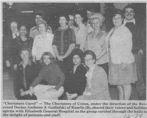 Union Choirsters December 1979